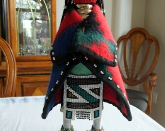 South African Beaded Doll / Ndebele Doll / African / Traditional / Folk Art / Linga Koba