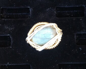 Labradorite  14k gold filled and Argentium silver Ring