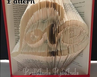 Love in Heart - Folded Book Art Pattern - MMF - Instant Download!