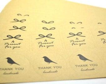 180 Handmade Kraft label sticker For Diy and handmade