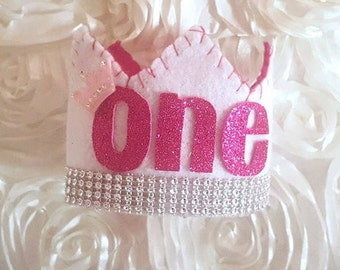 Royal birthday felt crown~baby crown~toddler crown~Adult crown~cuztomise to any of our colors~any number~birthdays~photo props