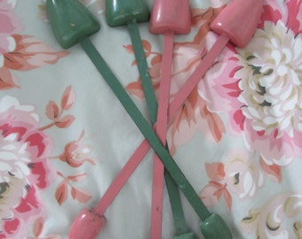 """Shoe Stays 11 1/2 """", Vintage Pink, Vintage Green, Insterts, Collectable Accessory"""