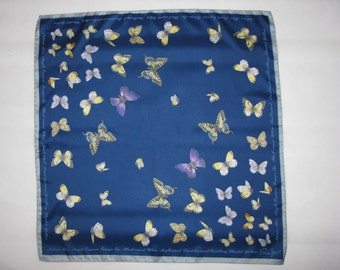 Vintage SCARF Cornelia James Butterflies spring is coming wildlife