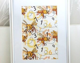 A5 Framed Bee Pattern