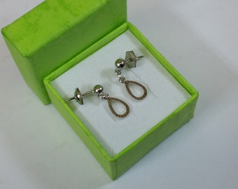 925 Silver studs earrings drop shape SO124