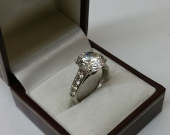 Ring Silver 925 crystals vintage elegant SR634