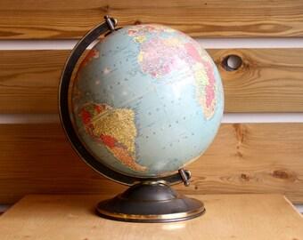 Replogle 12 Inch Precision Globe with Cast Metal Base: 1930s