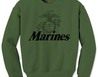 Marine Corps. U.S. ~ New ~ United States Marines USMC Military Crewneck Sweat Shirt [GD360] - Small to 5XL