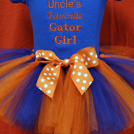 DollyWollySewing UF Gator clothing Gator Girl outfit