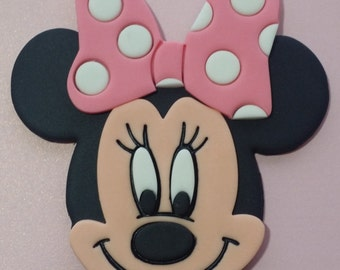 Pink or Red bow Minnie mouse cake topper