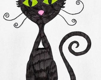 8.5x11 Print: Cat