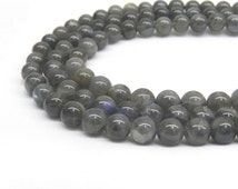 Labradorite Beads, AA Quality, 8mm Labradorite, 8mm Beads, Labradorite, Rare Gemstone, Rare Beads, 6mm Beads, Gray Moonstone, Natural Beads