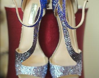 Custom Rhinestone bedazzled Shoes