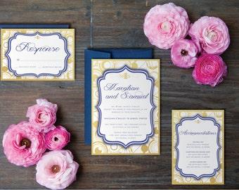 Doctor Who Inspired Gallifreyan Wedding Invitation Suite - Printable Wedding Invitation Suite, DIY Wedding Invitation