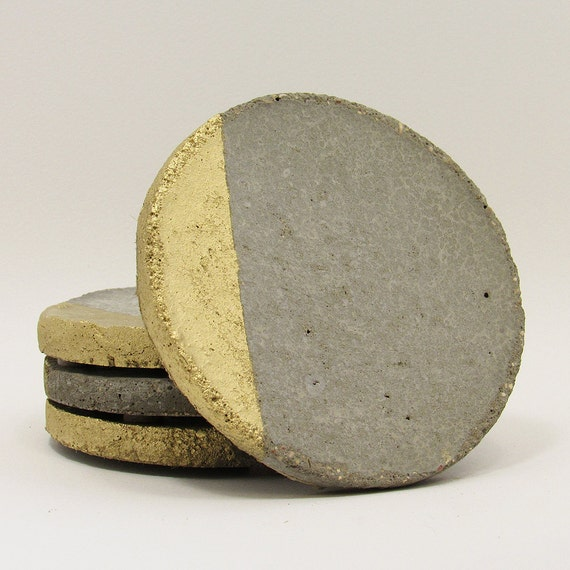 Concrete coasters drink coasters modern by timberlinestudio for How to make concrete coasters