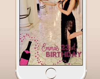 Custom Birthday Snapchat Geofilter / Custom Birthday Party Snapchat Filter / Custom Happy 23rd Birthday Snapchat Filter / 21st Bday Filter