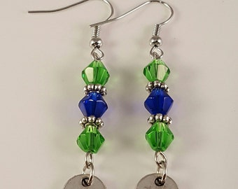 Seahawks 12th Man Earrings