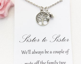 Sister necklace, Tree necklace, Sister gift, Gift to sister, Sister pendant, sister jewellery, sister jewelry, gift for friend, BMCNSITRE