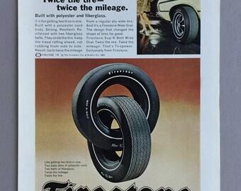 1969 Firestone Tire Print Ad - Sup-R-Belt