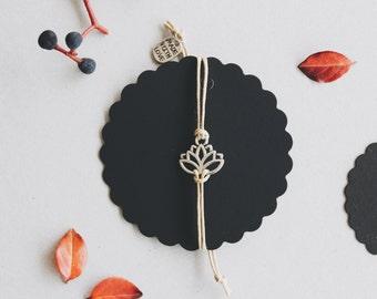 Taupe case Lotus bracelet