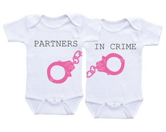Twin Baby shower gifts Twin Matching Outfits Adorable Twins