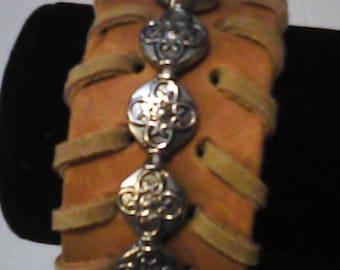 Beaded cuff bracelet.