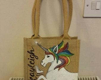 Personalised Jute Lunch Bag