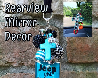 Jeep Wrangler Accessories, Jeep Girl, Jeep Lover Gift, Rear View Mirror Charm, Rearview, Jeep Life, Keychain, Jeep Wrangler Love, Jeep Hair