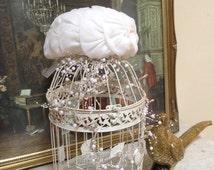 Hat/Formal/Vintage/White Hat. 1960s Wedding Hat. Mitzi Boutique of London