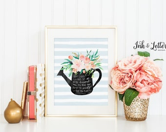 Spring Wall Decor - Watercolor Flower Print - Floral Wall Decor - Spring Wall Art - Instant Download - Digital Printable - 8x10