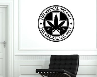 Wall Vinyl Medical Maryhuana Stamps Mural Vinyl Decal Sticker 1787dz