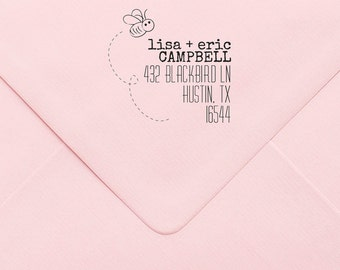 Address Stamp, Custom Personalized Address Stamp, Self Inking Return Address Stamp, Personalized Address Stamp, Custom Wedding Stamp 406