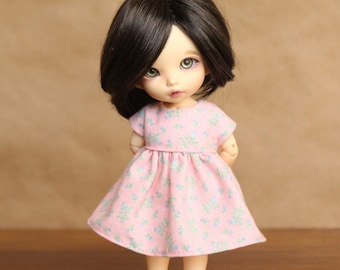 Petal Pink Flowered Dress for Pukifee and Lati Yellow Dolls