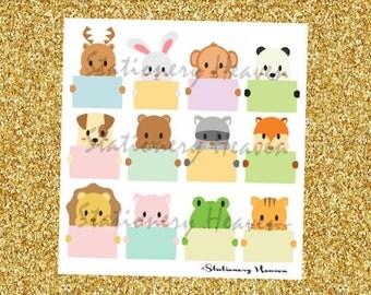 046 12 Kawaii Animals Planner Sticker