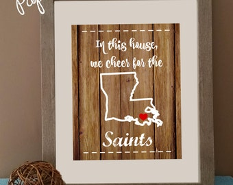 New Orleans Saints Printable