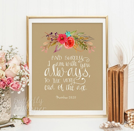Christian Wall Decor For Nursery : Christian wall art scripture print nursery by butterflywhisper