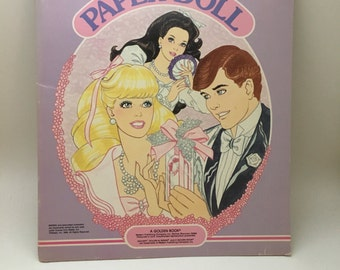 Vintage Barbie paper dolls, 1980s Barbie paper dolls, 1980s Barbie, vintage paper dolls, vintage Barbie, paper doll book, paper doll kit