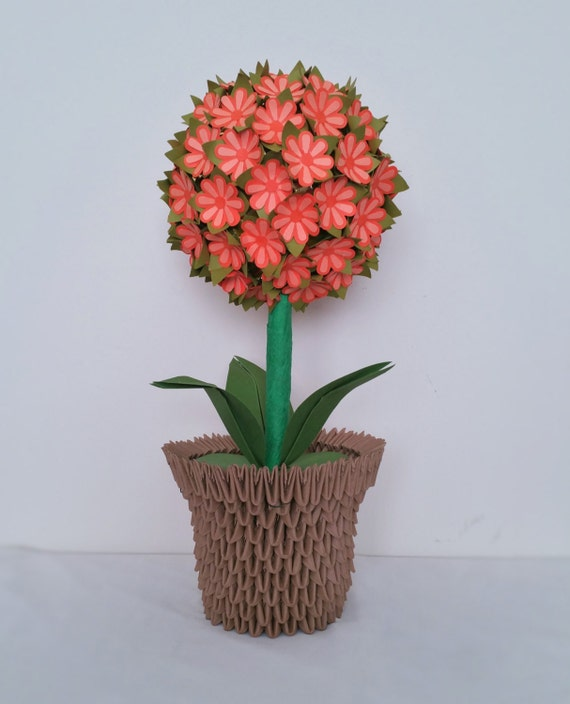 Vase 3d Origami Diagram: Items Similar To Flower Ball / Wedding Decor / Centerpiece