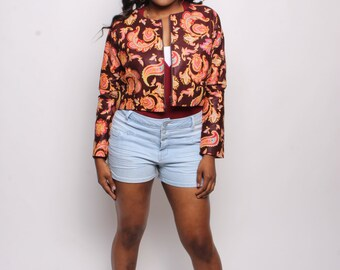 Ankara Crop Jacket long sleeve