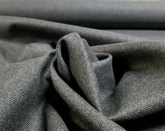 Charcoal Grey Wool Blend