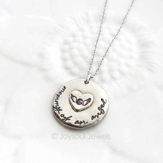 mother of an angel necklace angel mom necklace baby loss
