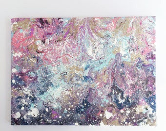 Marble Canvas Painting | multi-colored