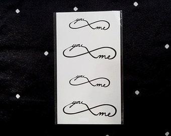 "Mini tattoo  for lovers ""you me"""
