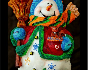 "Season Greeting Snowman Fridge Magnet 3.25""x2.25"" Collectibles (PMD11011)"