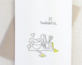 Funny Thanksgiving Card, Happy Thanksgiving Card, Thank You Card, Card for Mom, Holiday Card Wholesale Card