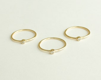 Thin gold ring - gold ring - delicate ring - dainty jewelry