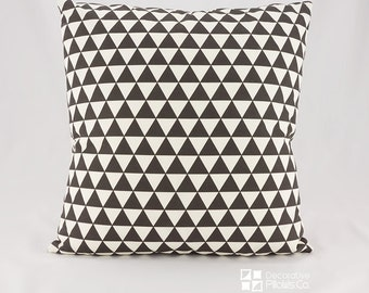 Geometric Black Throw Pillow covers, Geometric Decorative Pillow Covers, Black Triangle Pillow, Black and Beige Pillow