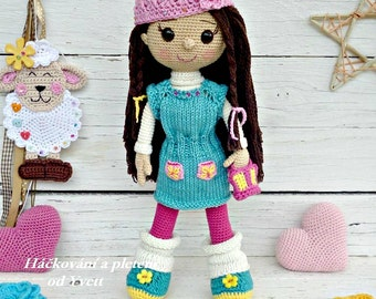 PATTERN - Doll Sandy - crochet pattern, amigurumi pattern, PDF