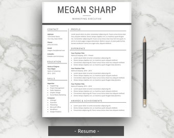 professional resume template cv template for word with cover letter simple resume template