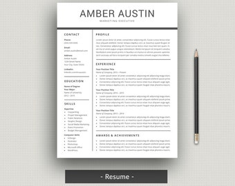 Resume Template | CV Template | Professional Resume + Cover Letter For Word  | Modern Resume  Resume Layout